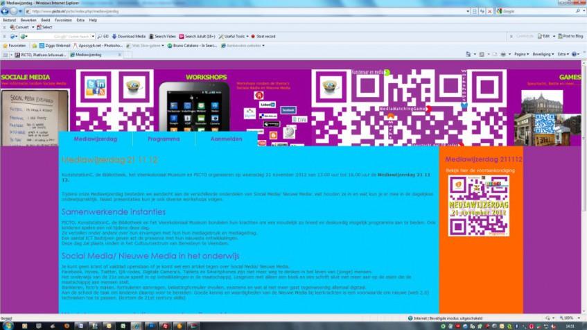Website Mediawijzerdag 21 11 12