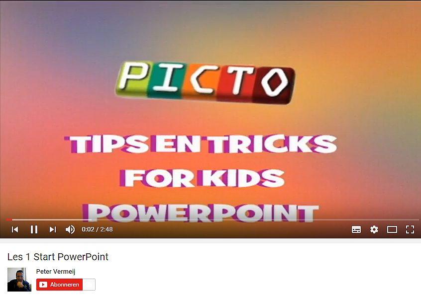 PowerPoint online cursus voor kids